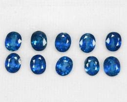 8.66 Cts 10 Pcs Amazing Rare Natural Fancy Blue Sapphire Loose Gemstone