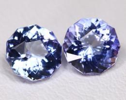 Tanzanite 2.74Ct VVS Master Cut Natural Purplish Blue Tanzanite Pair BT0019