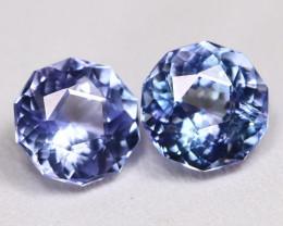 Tanzanite 3.02Ct VVS Master Cut Natural Purplish Blue Tanzanite Pair BT0023