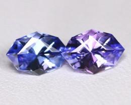 Tanzanite 1.46Ct VVS Master Cut Natural Purplish Blue Tanzanite Pair BT0028