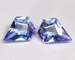Tanzanite 1.82Ct VVS Master Cut Natural Purplish Blue Tanzanite Pair BT0022