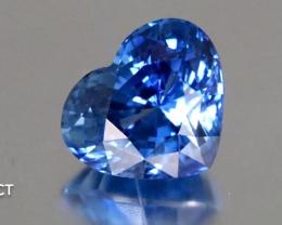 Sparkling Blue Sapphire - 4.98ct - Heart Shape - Srilanka