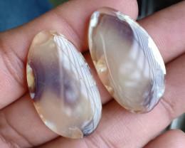 32x18mm Fancy Shape Onyx Pair 100% Natural Gemstones VA48