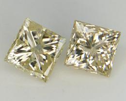 0.96 ct , Light Color Diamond , Natural Square Diamond