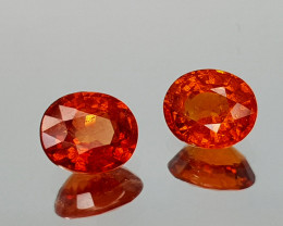 1.39Crt Spessartite Garnet Natural Gemstones JI07