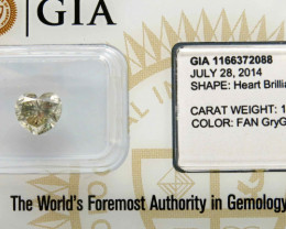 1.52ct Natural Fancy Green Diamond GIA certified
