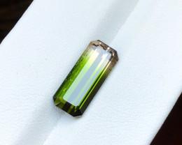 4.05 Ct Natural Bi Color Transparent Tourmaline Gemstone