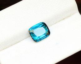 2.20 Ct Natural Blueish Transparent Tourmaline Ring Size Gemstone