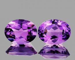 10x8 mm Oval 5.03cts Pinkish Purple Amethyst [VVS}