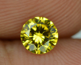 Certified Top Quality 0.51 ct Yellow Diamond