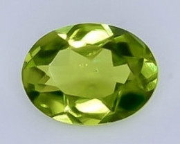 1.21 Crt Natural  Peridot Faceted Gemstone.( AB 25)