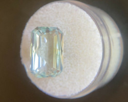 Fine Blue Aquamarine 6.63ct Fancy Scissor Emerald Cut Beryl Gemstone 14.5x9
