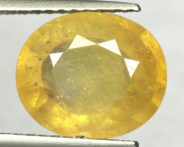 4.10 Cts Amazing Rare Fancy Yellow Sapphire Gemstone