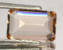 ~LOVELY~ 2.85 Cts Natural Peach Pink Morganite Octagon Cut Brazil