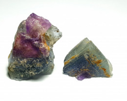 Amazing Natural Bicolor gemmy quality  Fluorite Crystal 240Cts-Pak