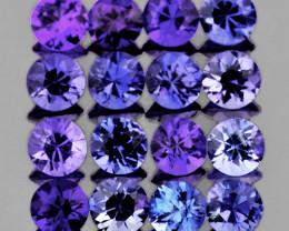 1.90 mm Round 25 pcs 0.90ct Violet Blue Sapphire [VVS]