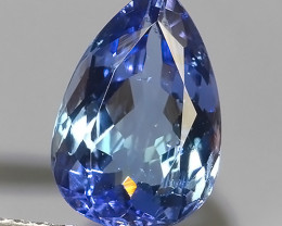 1.50 CTS~SPECTACULAR NATURAL ULTRA RARE LUSTER BLUE TANZANITE~