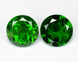 2.71 Cts 2 Pcs Natural Green Color Chrome Diopside Loose Gemstone