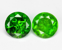 1.68 Cts 2 Pcs Natural Green Color Chrome Diopside Loose Gemstone