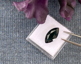 5.28ct  Sapphire - Greenish Black