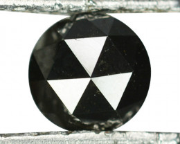 0.70 Cts Natural Black Diamond Round (Rose Cut) Africa
