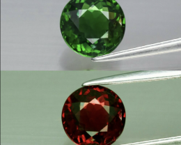 1.42ct 7mm  Green Chrome Tourmaline Natural Unheated