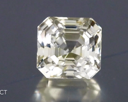 Glittering Unheated Yellow Sapphire - 7.03ct - Octagon - Eye Clean - Srilan