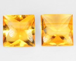 4.52 Cts 2 Pcs Fancy Golden Yellow Color Natural Citrine Gemstone
