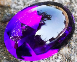 Certifed !!! 49.30 CTRare HQ Amethyst Borneo Indonesia