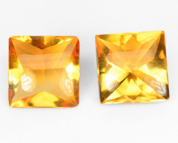 4.57 Cts 2 Pcs Fancy Golden Yellow Color Natural Citrine Gemstone