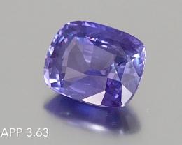 Unheated Purple Sapphire - Cushion - 3.63ct - Near Eye Clean - SriLanka - C