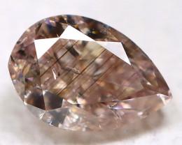 Champagne Pink Diamond 0.10Ct Natural Untreated Fancy Diamond BM0948