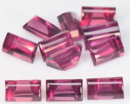 5.50 Cts 11 Pcs Unheated Natural Cherry Pinkish Red Rhodolite Garnet Gemsto