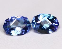Tanzanite 1.55Ct VS Master Cut Natural Purplish Blue Tanzanite Pair BT0042