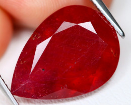 Red Ruby 11.22Ct Pear Cut Pigeon Blood Red Ruby C1611