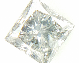 0.24 cts , Natural Salt and Pepper Diamond , Princess Brilliant Cut