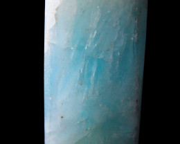 NR!!! 246.20 CTs Natural - Unheated Blue Calcite Carved Tower Shape