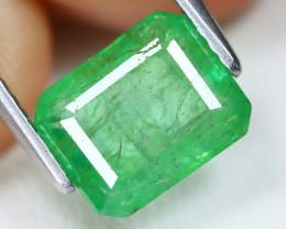 Zambian Emerald 2.01Ct Otogon Cut Natural Green Color Emerald B1707