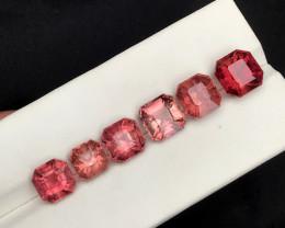 16.20 Carats Natural Asscher Cut Tourmaline Gemstones