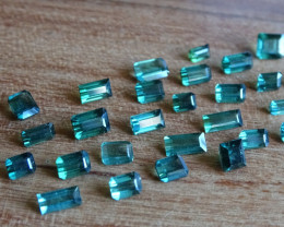 Tourmaline - Blue Green - 17.85ct - Big Lot -