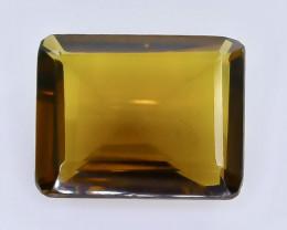 9.88 Crt Natural  Conic Quartz Faceted Gemstone.( AB 26)