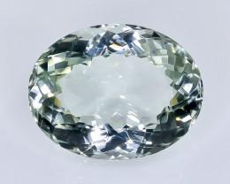 18.21 Crt Natural  Green Prasiolite Amethyst Faceted Gemstone.( AB 26)
