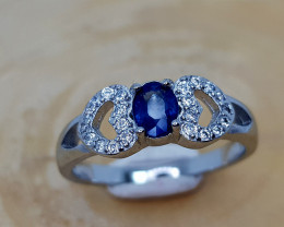 14CT SAPPHIRE 925 SILVER RING  6.5 BEST QUALITY GEMSTONE IIGC33