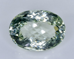 19.24 Crt Natural  Green Prasiolite Amethyst Faceted Gemstone.( AB 26)