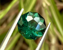 2.64 ct Greenish Blue  Tourmaline with fine Cutting  Gemstone