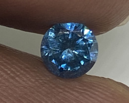 (1) Certified $522 Fiery 0.43cts SI2 Nat Vivid Blue Round Loose Diamond