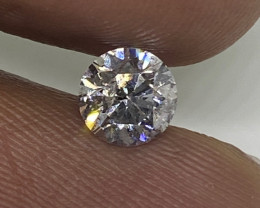 (2) Certified Nat Brilliant $1921 0.60ct SI3 White Round  Loose Diamond