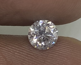 (4) Certified $1502 Beautiful 0.50cts VS2 Nat White Round Loose Diamond