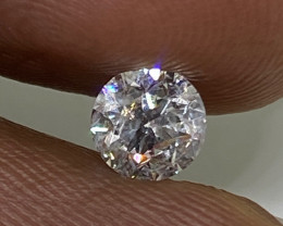 (7) Certified $1302 Brilliant 0.51cts VS2 Nat White Round Loose Diamond