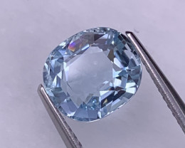 2.72 Cts Santa Maria Color Aquamarine Top Quality Custom Cut